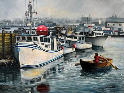 Cripple Cove Gloucester Ma Original by Eileen Patten Oliver