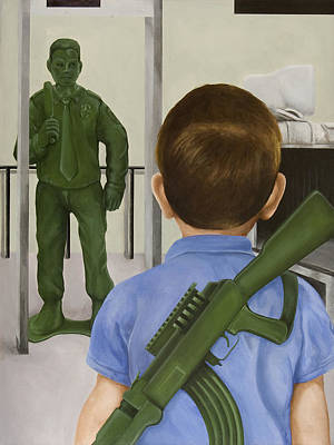 Ak-47 Painting - Crisis Averted by Josh Bernstein