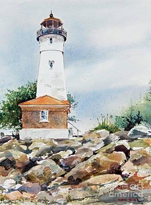 Crisp Lighthouse Print by Monte Toon