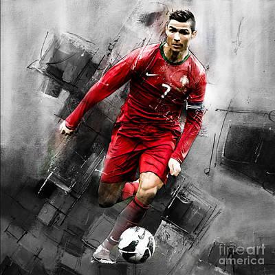 Cristiano Ronaldo Painting - Cristiano Ronaldo 06i by Gull G
