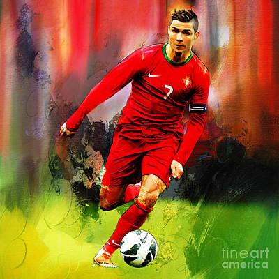 Cristiano Ronaldo Painting - Cristiano Ronaldo 08a by Gull G