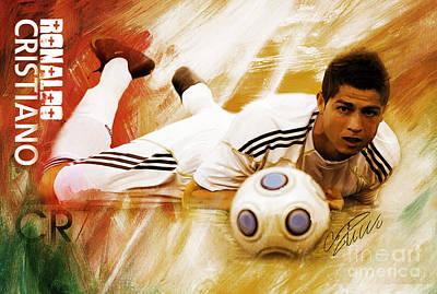 Cristiano Ronaldo Painting - Cristiano Ronaldo 092f by Gull G