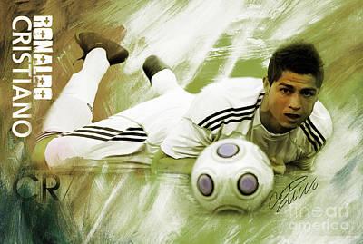 Cristiano Ronaldo Painting - Cristiano Ronaldo 093h by Gull G