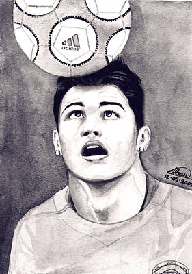 Cristiano Ronaldo Print by Alban Dizdari