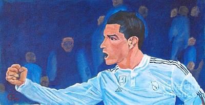 Cristiano Ronaldo Painting - Cristiano Ronaldo Goooool by Frank Giordano