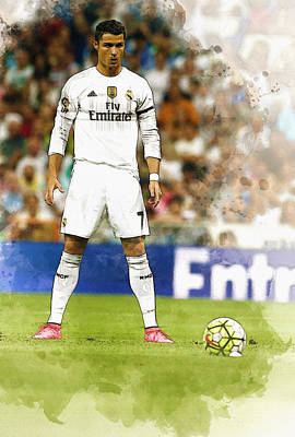 Decoupage Digital Art - Cristiano Ronaldo Reacts by Don Kuing