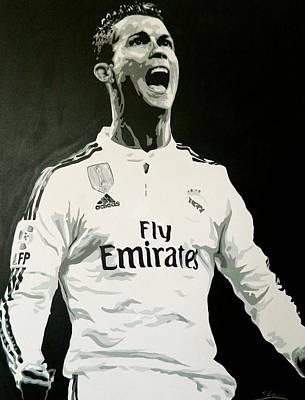 Cristiano Ronaldo Painting - Cristiano Ronaldo Real Madrid by Scott Strachan