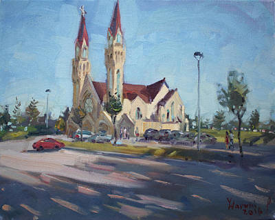 Croatian Centre-the Queen Of Peace Print by Ylli Haruni