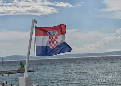 Croatian National Flag, Croatia Print by Ivan Batinic