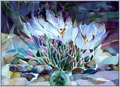 Mosaics Drawing - Crocus Saffron by Mindy Newman
