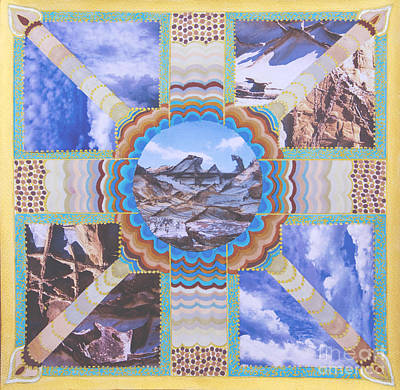 Earth Meets Sky Print by Dinah Jarvis