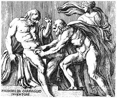 Cronus And Uranus Print by Granger