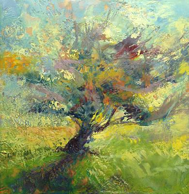 Encaustic Painting - Crooked Tree by Barbara Hranilovich