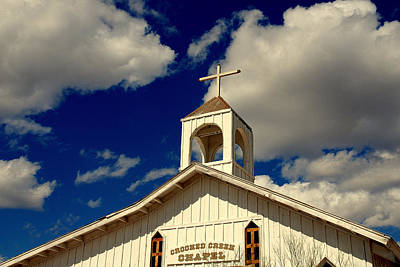 Deep Blue Photograph - Crooked Creek Chapel by Susanne Van Hulst