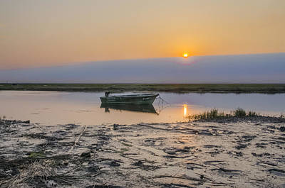 Row Boat Digital Art - Crooked Creek - Stone Harbor New Jersey by Bill Cannon