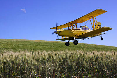 Airplane Photograph - Crop Duster In Action by Doug Oriard