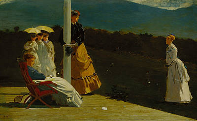 Match Painting - Croquet Match by Winslow Homer