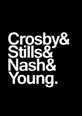Neil Young Digital Art - Crosby Stills Nash And Young - Poster by Geraldo Bezerra