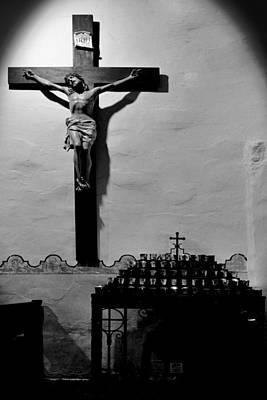 Votive Photograph - Cross Mission San Diego De Alcala by Christine Till