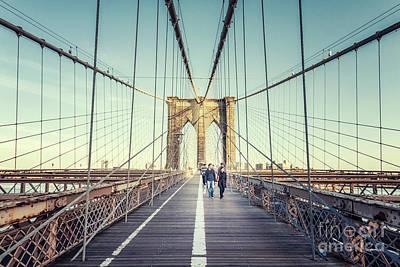 Photograph - Cross The Bridge by Evelina Kremsdorf