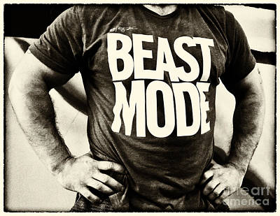 Canadian Sports Photograph - Beast Mode by Bob Christopher