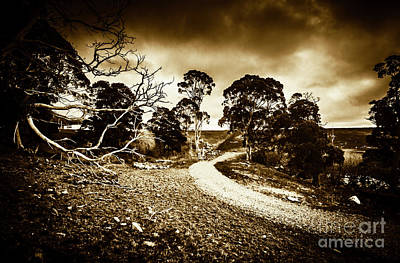 Old Country Roads Photograph - Crossing The Bleak by Jorgo Photography - Wall Art Gallery