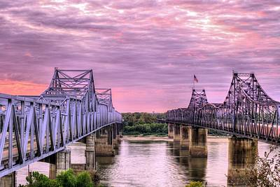 Crossing The Mississippi Print by JC Findley