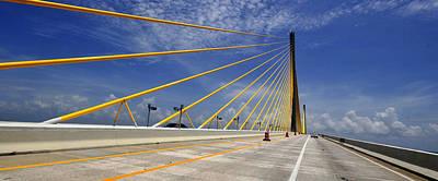 Sunshine Skyway Bridge Photograph - Crossing The Skyway by David Lee Thompson