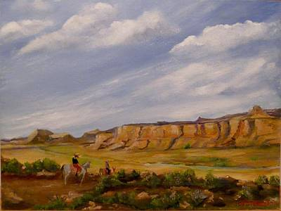 Edgar Payne Painting - Crossing The Valley by Hilda Hayson