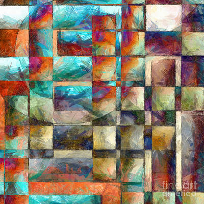 Colored Pencil Abstract Photograph - Crossover Abstract Pencil by Edward Fielding