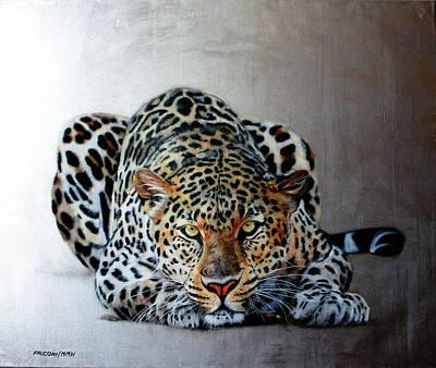 Crouching Leopard Print by Susana Falconi
