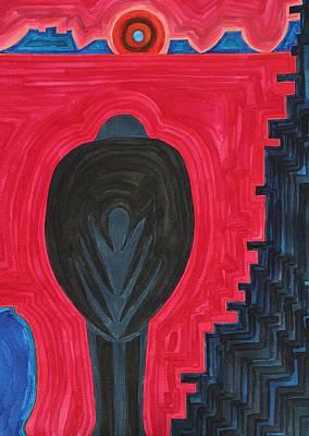 Crow Original Painting Print by Sol Luckman