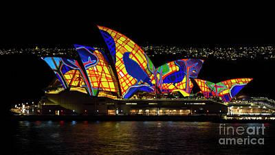 Photograph - Crow Sails - Sydney Opera House - Vivid Sydney by Bryan Freeman