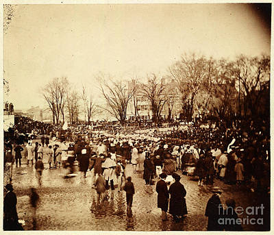 Inauguration Painting - Crowd At Lincoln's Second Inauguration by Celestial Images