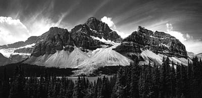 Bow Lake Photograph - Crowfoot Mountain And Bow Lake by Cale Best