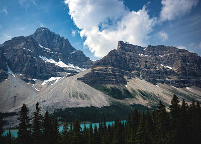 Bow Lake Photograph - Crowfoot Mountain by Cale Best