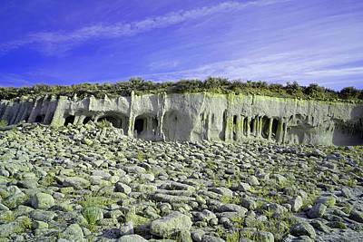 Crowley Lake Photograph - Crowley Lake Columns by Dale Matson