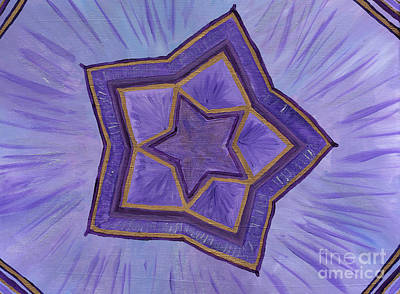 Dimensional Painting - Crown Flower by Julia Stubbe