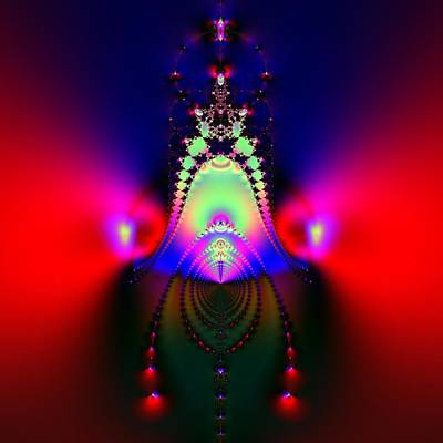 Abstract Digital Art - Crown Of Jewels by Solomon Barroa