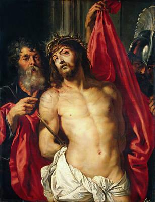 Men Painting - Crown Of Thorns, Ecce Homo by Peter Paul Rubens