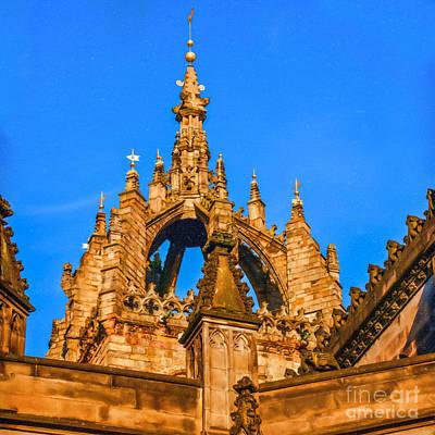 Architecture Digital Art - Crown Spire St Giles Cathedral by Liz Leyden
