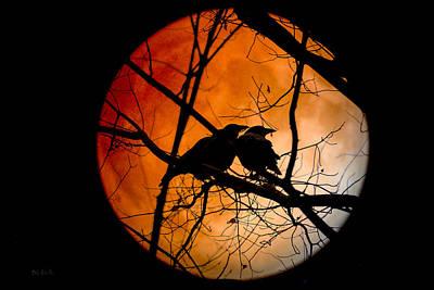 Autumn Photograph - Crows Moon by Bob Orsillo