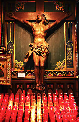 Old Montreal Photograph - Crucifix At Notre Dame by John Rizzuto