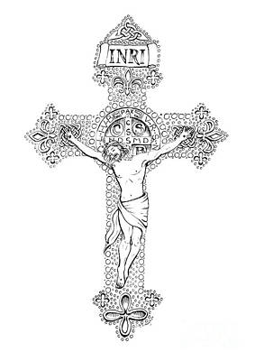 Crucifix Print by Jenny McLaughlin