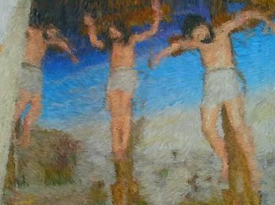 Digital Art - Crucifixion by Mike La Muerte Giuliani
