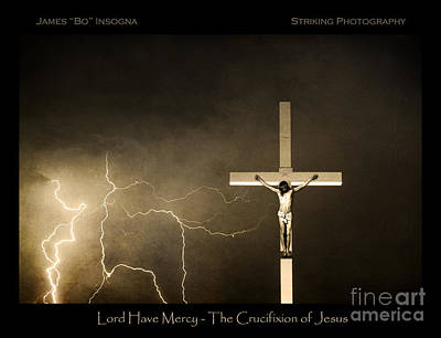 Church Photograph - Crucifixion Of Jesus - Sepia Poster Print by James BO  Insogna