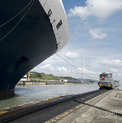 Canal Photograph - Cruise Ship Exiting Pedro Miguel Locks, Panama Canal  by Dani Prints and Images