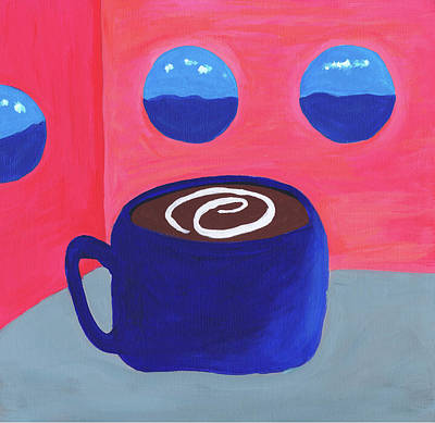 Coffee Cup Painting - Cruisin' by Beth  Cornell