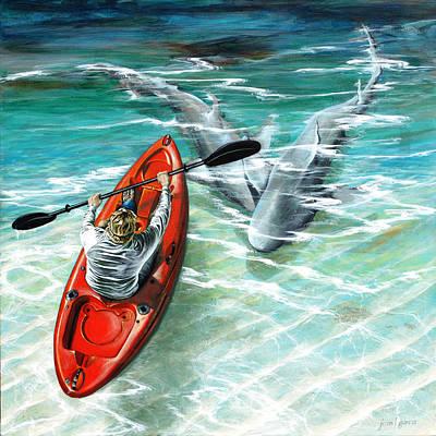 Cruising The Channel Print by Joan Garcia