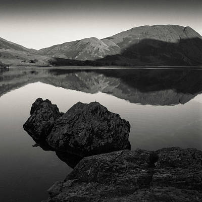 Crummock Water Reflection Print by Dave Bowman